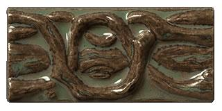 Terra Firma Tile Twining Vines 4 inch Long Art Tile Alchemy