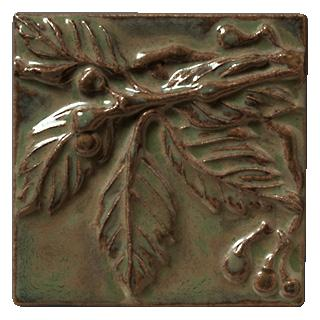 Terra Firma Tile Virginia Creeper 1 Art Tile