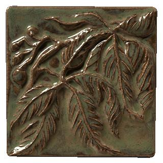 Terra Firma Tile Virginia Creeper Left Corner Art Tile Alchemy