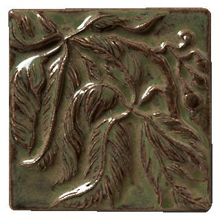 Terra Firma Tile Virginia Creeper Right Corner Art Tile Alchemy