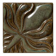 Terra Firma Tile Water Lilly II Frame Corner Art Tile Alchemy