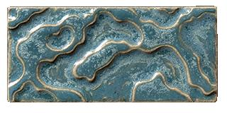 Terra Firma Tile Water Pattern Art Tile-2x4 Blue Faience