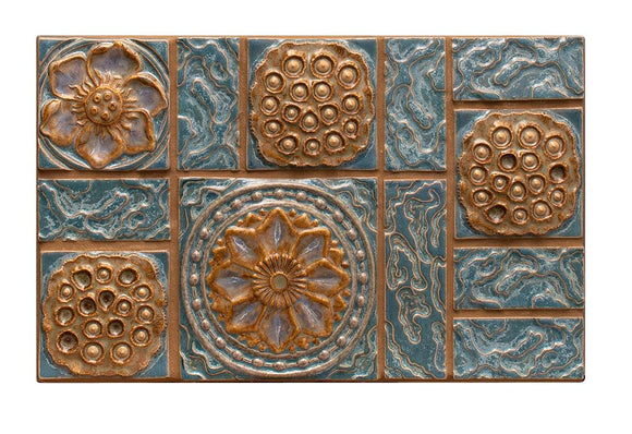 Terra Firma Tile Water Patterns Centerpiece