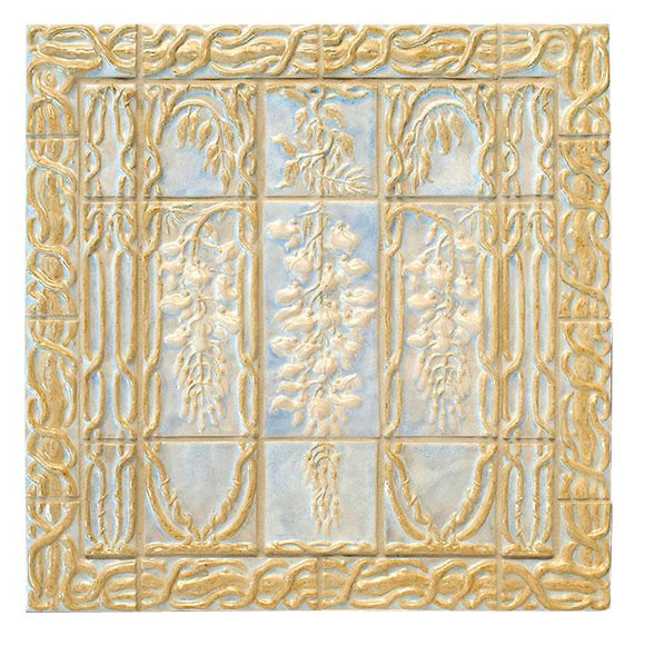 Terra Firma Tile Wisteria Cathedral Centerpiece