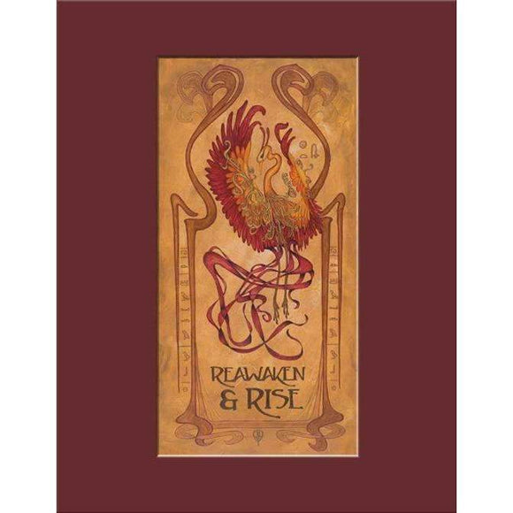 The Bungalow Craft Decor Julie Leidel Art Nouveau Phoenix Print