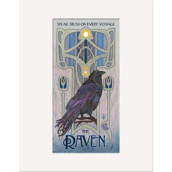 The Bungalow Craft Decor Julie Leidel Art Nouveau Raven Print