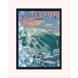 The Bungalow Craft Decor Julie Leidel Beaver Creek Print 8 x 10 Matted Print