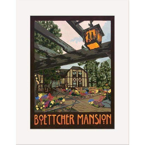 The Bungalow Craft Decor Julie Leidel Boettcher Mansion Print 8 x 10 Matted Print