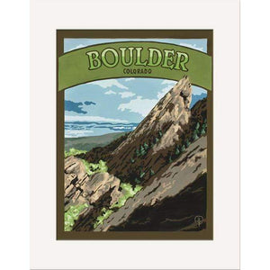 The Bungalow Craft Decor Julie Leidel Boulder Print 8 x 10 Matted Print