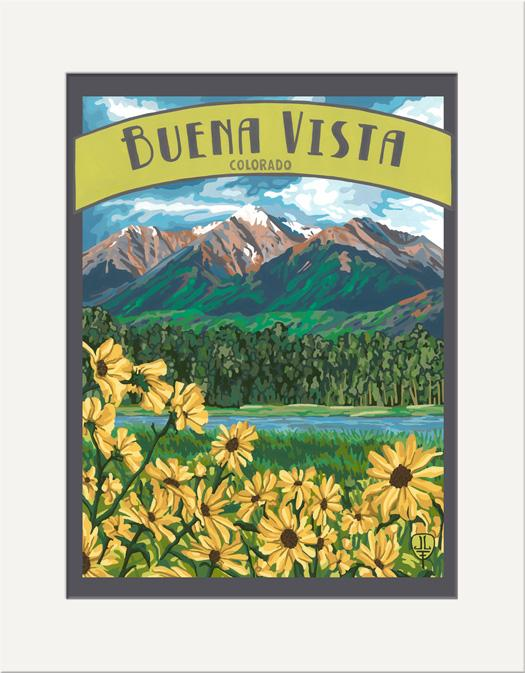 The Bungalow Craft Decor Julie Leidel Buena Vista Print 11 x 14 Flat Art Canvas