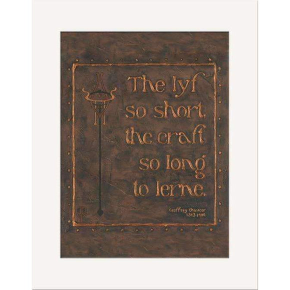 The Bungalow Craft Decor Julie Leidel Chaucer Quote Print