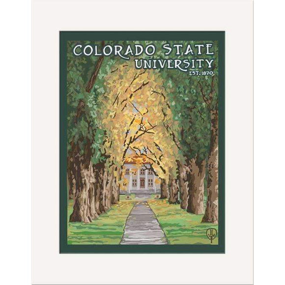 The Bungalow Craft Decor Julie Leidel Colorado State University Print 8 x 10 Matted Print