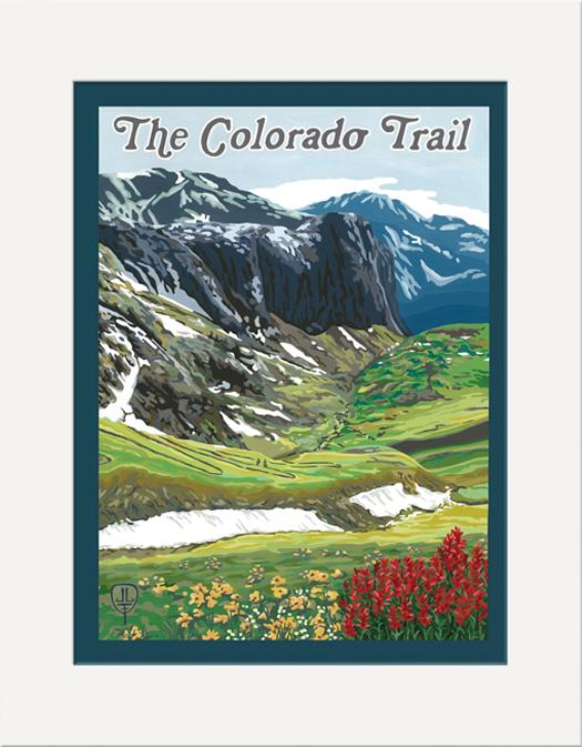 The Bungalow Craft Decor Julie Leidel Colorado Trail Print 11 x 14 Flat Art Canvas