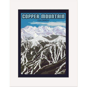 The Bungalow Craft Decor Julie Leidel Copper Mountain Print 8 x 10 Matted Print