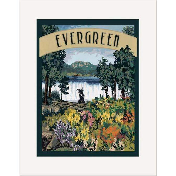 The Bungalow Craft Decor Julie Leidel Evergreen Print 8 x 10 Matted Print