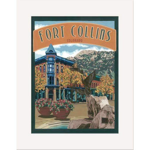 The Bungalow Craft Decor Julie Leidel Fort Collins Print 8 x 10 Matted Print