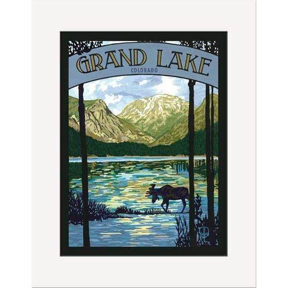 The Bungalow Craft Decor Julie Leidel Grand Lake Print 8 x 10 Matted Print