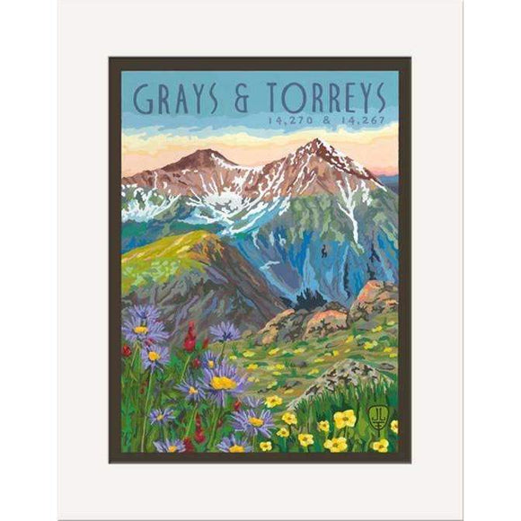 The Bungalow Craft Decor Julie Leidel Grays and Torreys Print 8 x 10 Matted Print