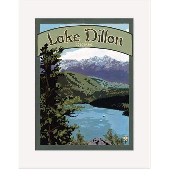 The Bungalow Craft Decor Julie Leidel Lake Dillon Print 8 x 10 Matted Print