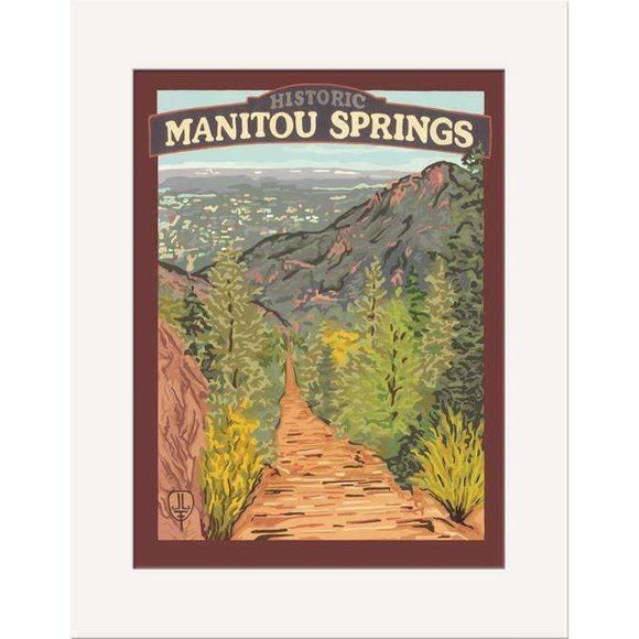 The Bungalow Craft Decor Julie Leidel Manitou Springs Print 8 x 10 Matted Print