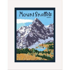 The Bungalow Craft Decor Julie Leidel Mount Sneffels Print 8 x 10 Matted Print