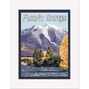 The Bungalow Craft Decor Julie Leidel Mount Sopris Print 8 x 10 Matted Print