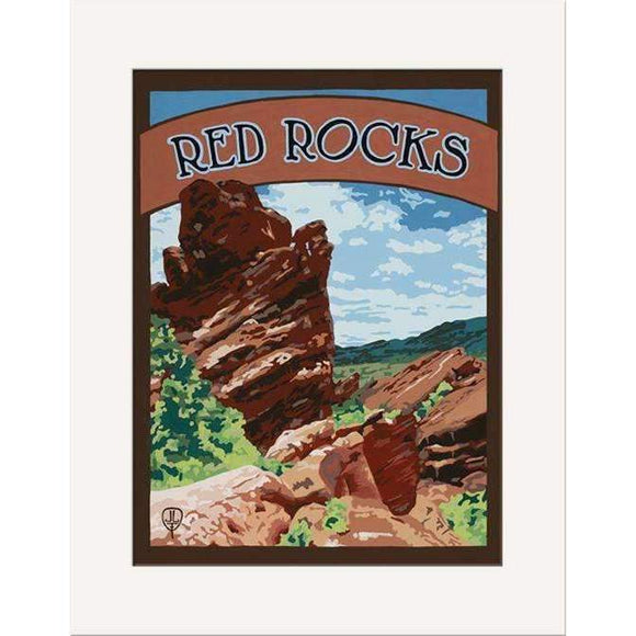 The Bungalow Craft Decor Julie Leidel Red Rocks Print 8 x 10 Matted Print
