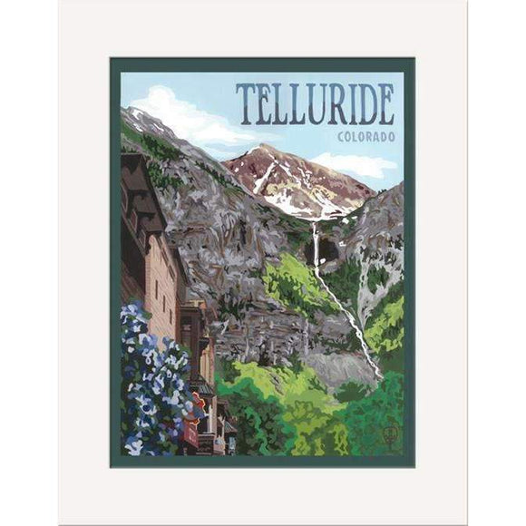 The Bungalow Craft Decor Julie Leidel Telluride Print 8 x 10 Matted Print