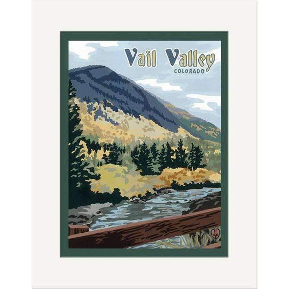 The Bungalow Craft Decor Julie Leidel Vail Valley Print 8 x 10 Matted Print