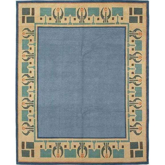Tiger Rug Rug Arrowroot Sky Blue Rug