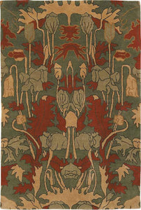 poppies rug by tiger rugs