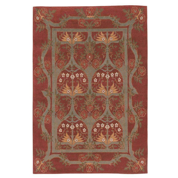 Tiger Rug Rug Rambling Rose Burgundy Rug 2x3