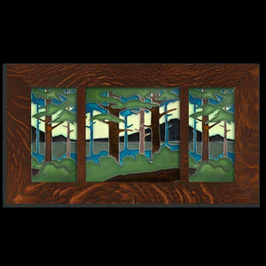 8x8 Pine Landscape Framed Tile Set