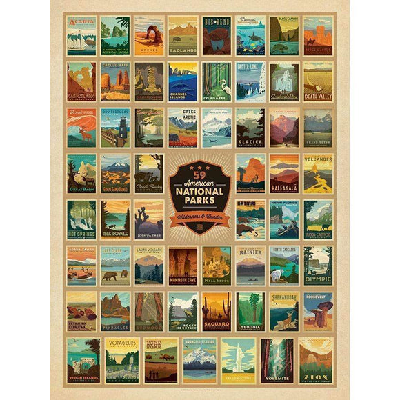 True South Puzzle Gifts The National Parks: America's Best Idea
