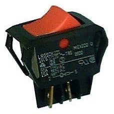 Philmore 30-16867 DPST ON-OFF, 125V Lighted Red Rocker Switch DPST 20A @ 125V AC