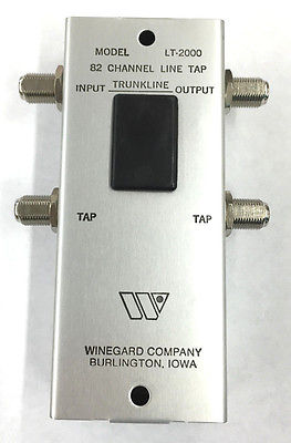 Winegard LT-2000 82 CH Trunkline Dual Output Line Tap 2 Way - MarVac Electronics