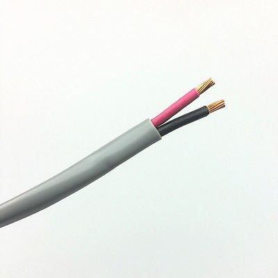 25' 2 Conductor 14 Gauge Unshielded Cable, CM Rated ~ 2C 14AWG U1402 - MarVac Electronics