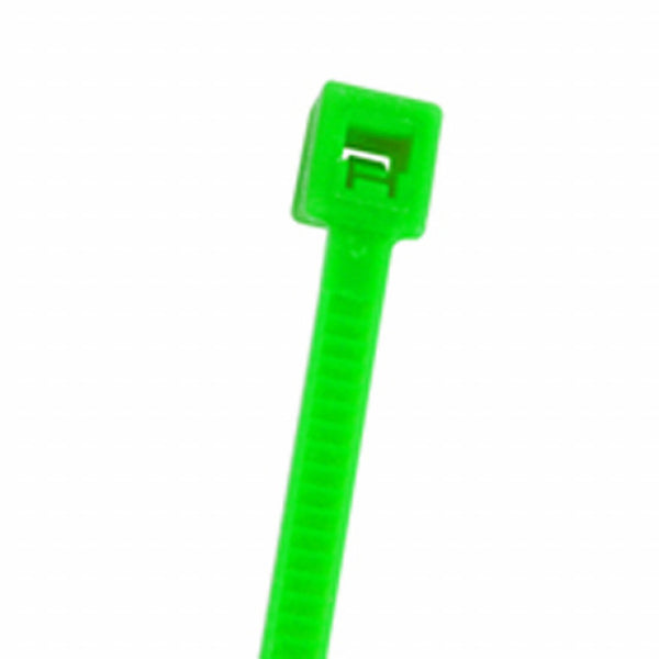 "NTE # 04-041811, 4.0"" Fluorescent Green Wire & Cable Ties, 100pc Bag"