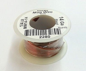 14 Gauge Insulated Magnet Wire, 1/4 Pound Roll (20' Approx. Length) 14AWG - MarVac Electronics