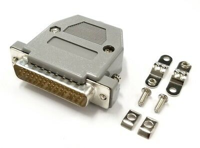 HD 44 Pin Male D-Sub Cable Mount Connector w/ Plastic Cover & Hardware DB44