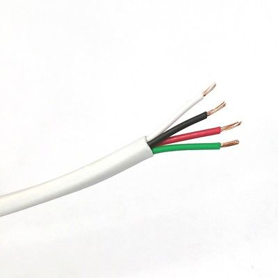 25' 4 Conductor 22 Gauge Uhielded Cable, CMR Rated 25 Foot Length 4C 22AWG U2204