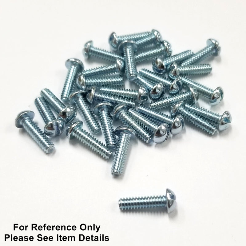 "Philmore 10-488, 8-32 x 1.0"" Round Head Steel Machine Screws - 30 Pack"