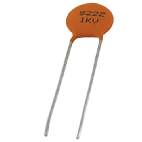 NTE 90210 Ceramic Disc Capacitor 1000pF, 1KV, Y5P ~ 2 Pack