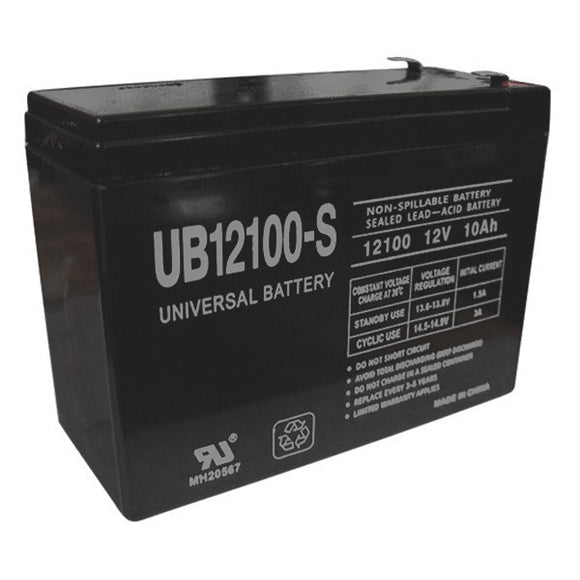 12V 10.0AH SLA Battery F2 Terminals UB12100S F2