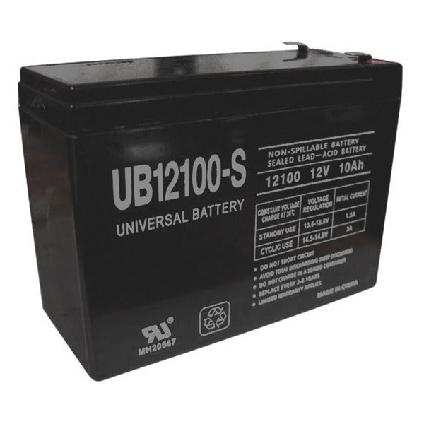12V 10.0AH SLA Sealed Lead Acid  Battery F2 Terminals UB12100S F2 UPG
