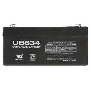 6V 3.4AH SLA Battery F1 Terminals UB634 F1