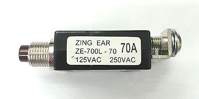 70 Amp Heavy Duty Pushbutton Circuit Breaker ~ Zing Ear ZE-700L-MH-70 70A - MarVac Electronics