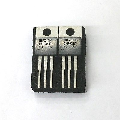 Lot of 2 IRF International Rectifier IRFZ46N 53A, 55V N Channel Power Mosfet - MarVac Electronics