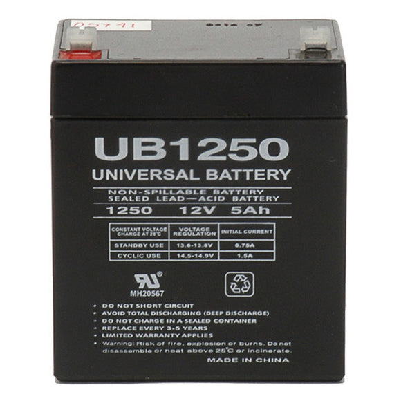 12V 5AH SLA Battery F1 Terminals UB1250 F1