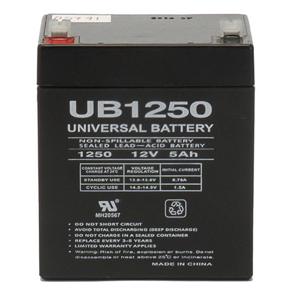 12V 5AH SLA  Sealed Lead Acid Battery F1 Terminals UB1250  Alarm Battery UPG